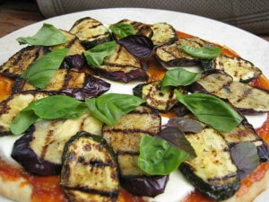 grilled veggie pizza, toronto personal chef